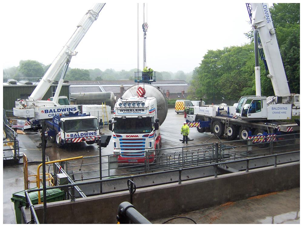 Mobile Crane Rigging : Industrial removals relocation des group
